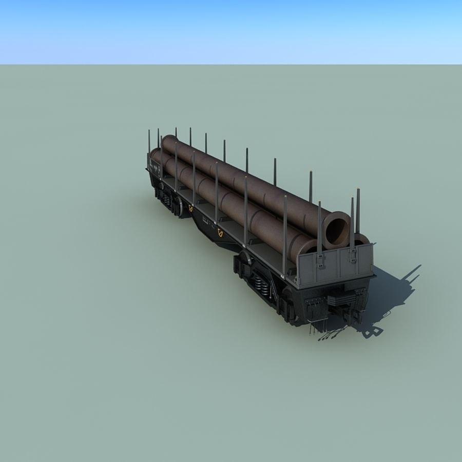 Wagon royalty-free 3d model - Preview no. 18