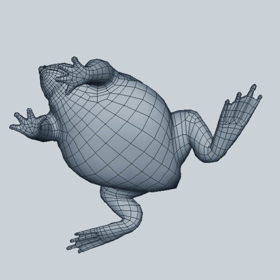 Frog Purple royalty-free 3d model - Preview no. 9