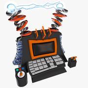 Cartoon Super Computer 3d model