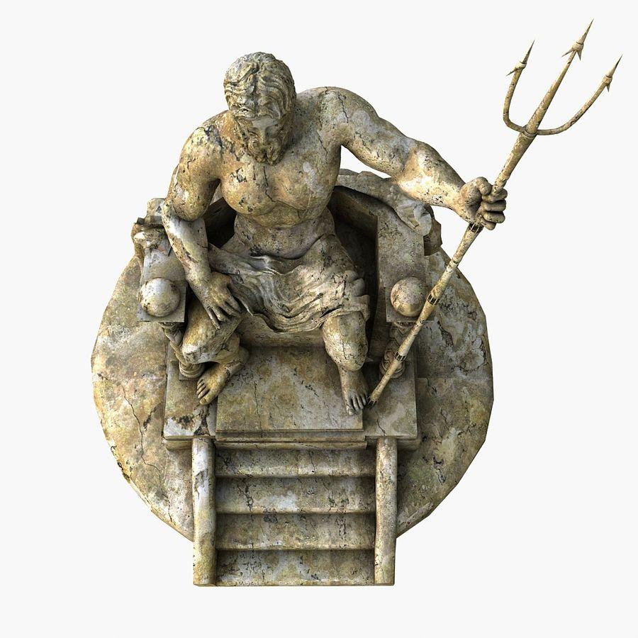 Poseidon-standbeeld royalty-free 3d model - Preview no. 3