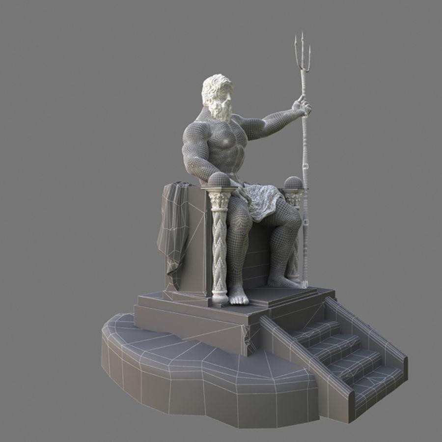 Poseidon-standbeeld royalty-free 3d model - Preview no. 8