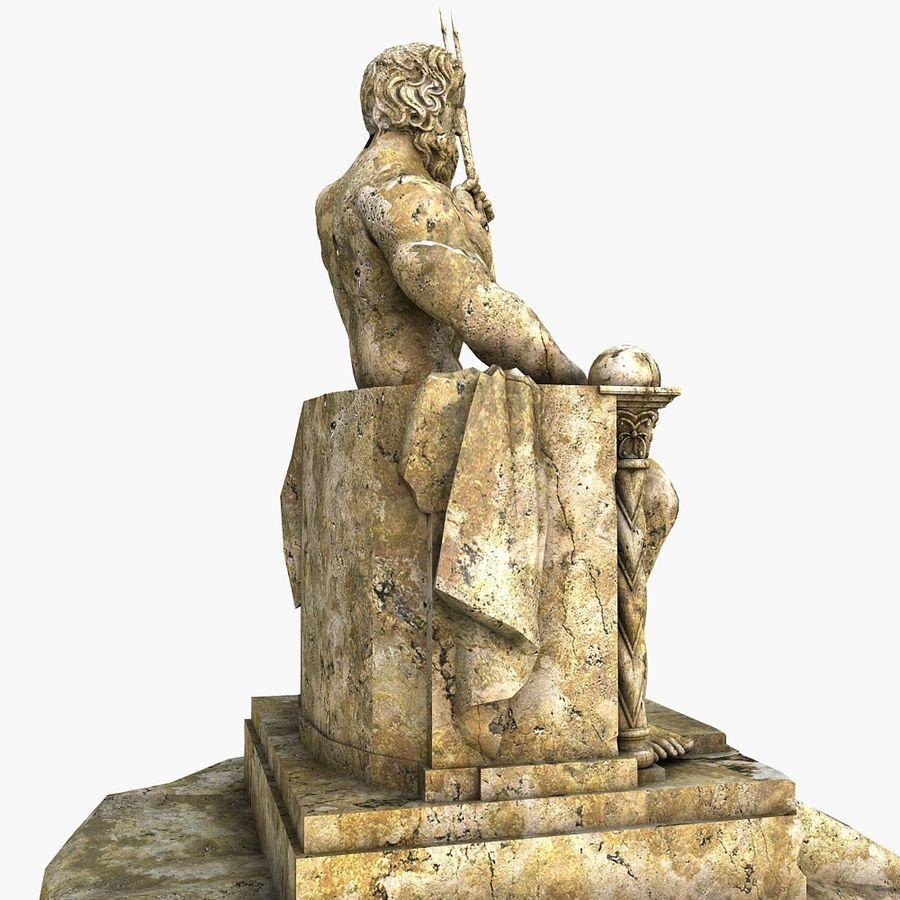 Poseidon-standbeeld royalty-free 3d model - Preview no. 4