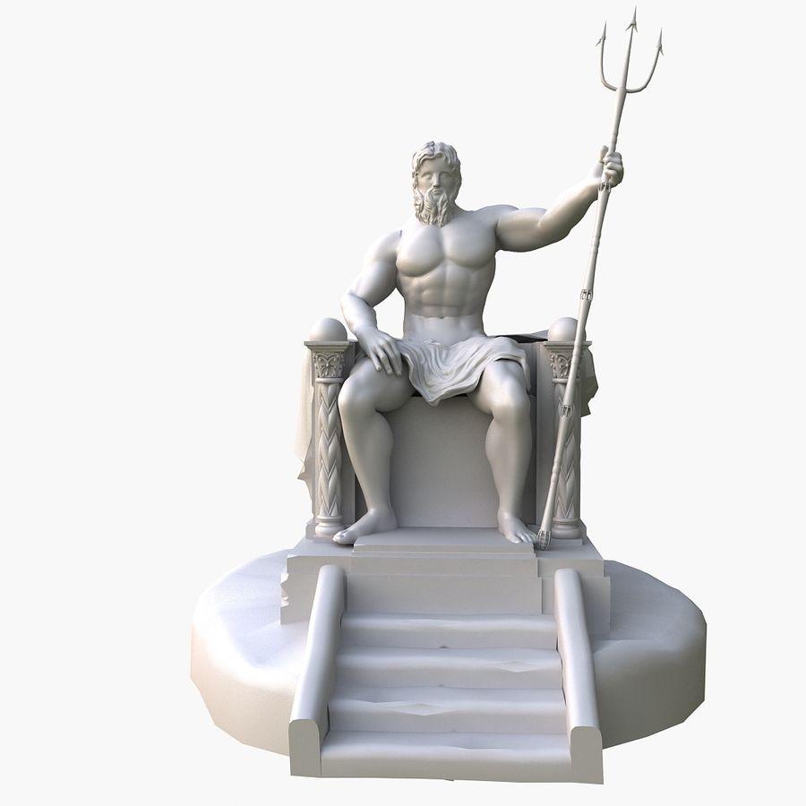 Poseidon-standbeeld royalty-free 3d model - Preview no. 6