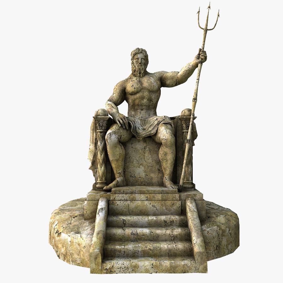 Poseidon-standbeeld royalty-free 3d model - Preview no. 1