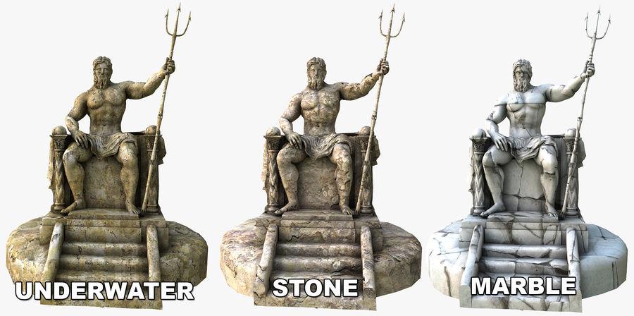 Poseidon-standbeeld royalty-free 3d model - Preview no. 9