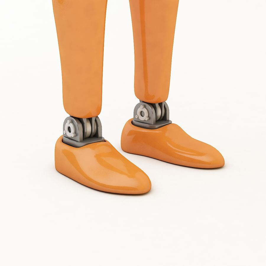 Crash Dummy Female royalty-free 3d model - Preview no. 9
