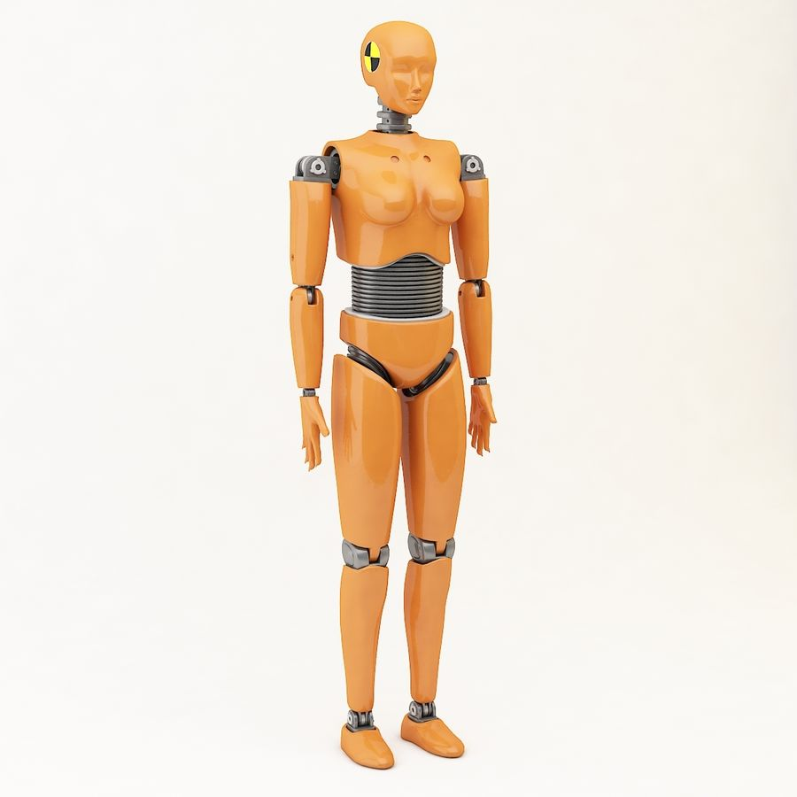 Crash Dummy Female royalty-free 3d model - Preview no. 2