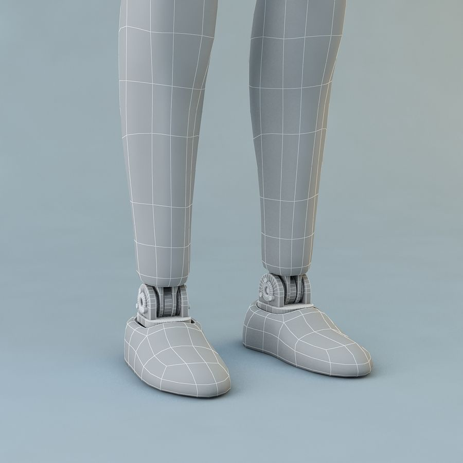 Crash Dummy Female royalty-free 3d model - Preview no. 17