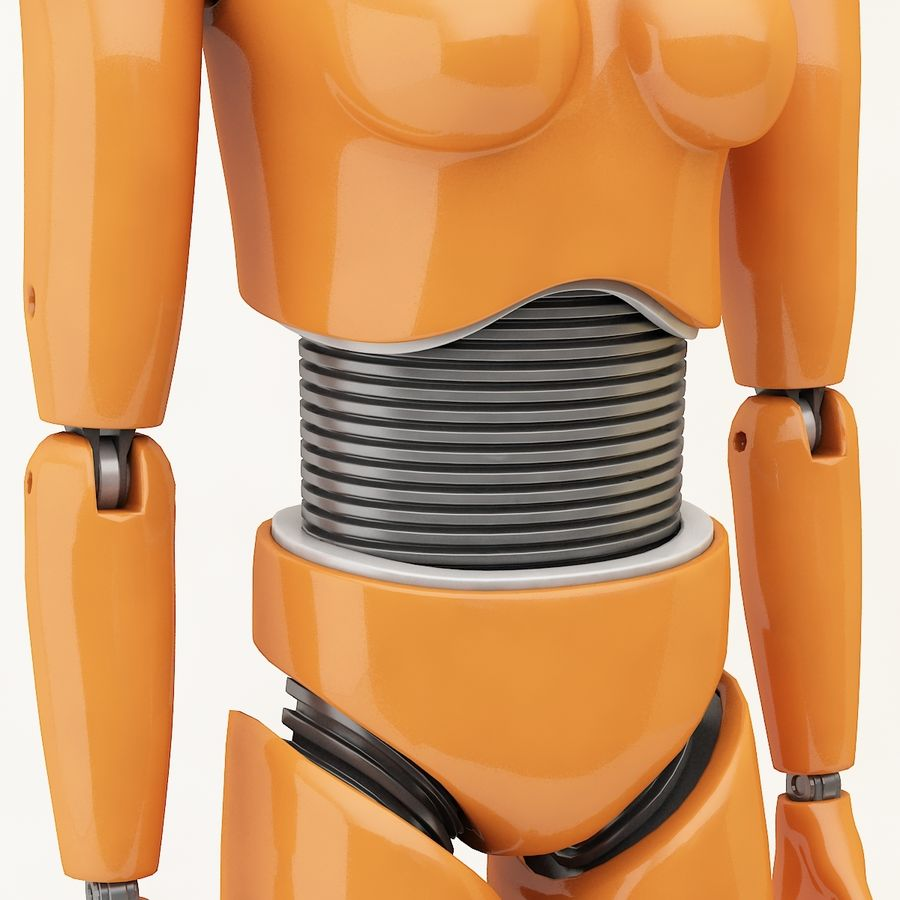 Crash Dummy Female royalty-free 3d model - Preview no. 6