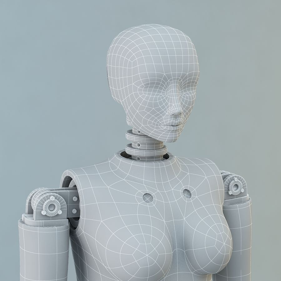 Crash Dummy Female royalty-free 3d model - Preview no. 12