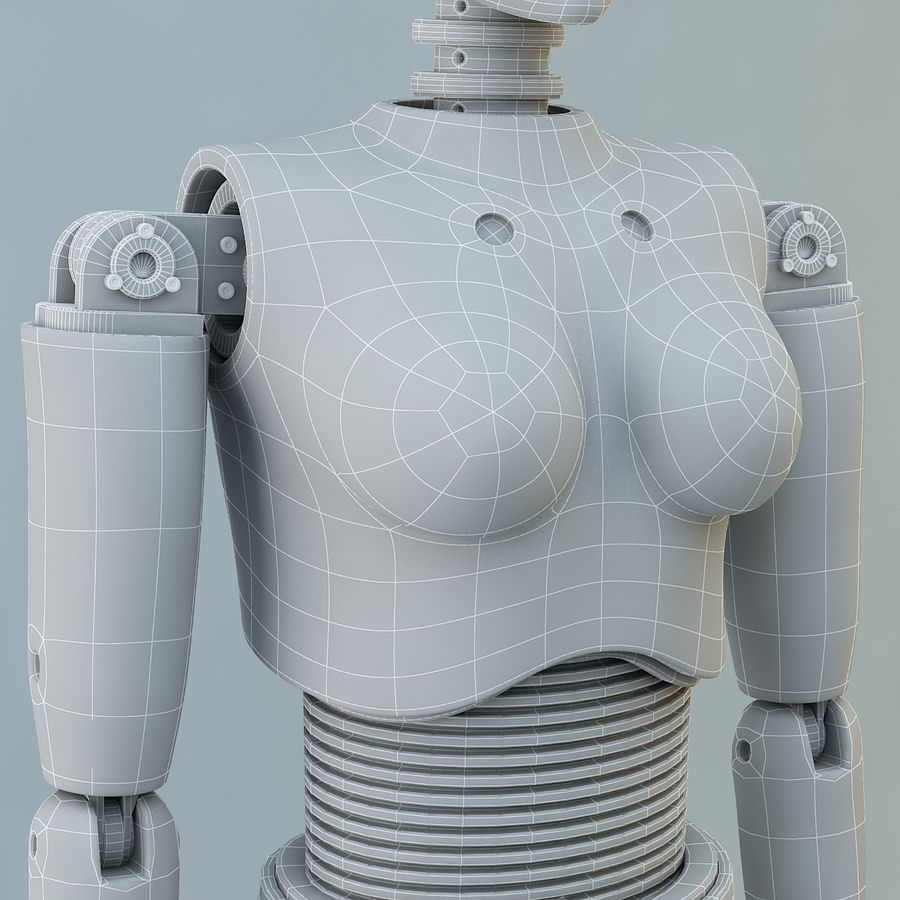 Crash Dummy Female royalty-free 3d model - Preview no. 14