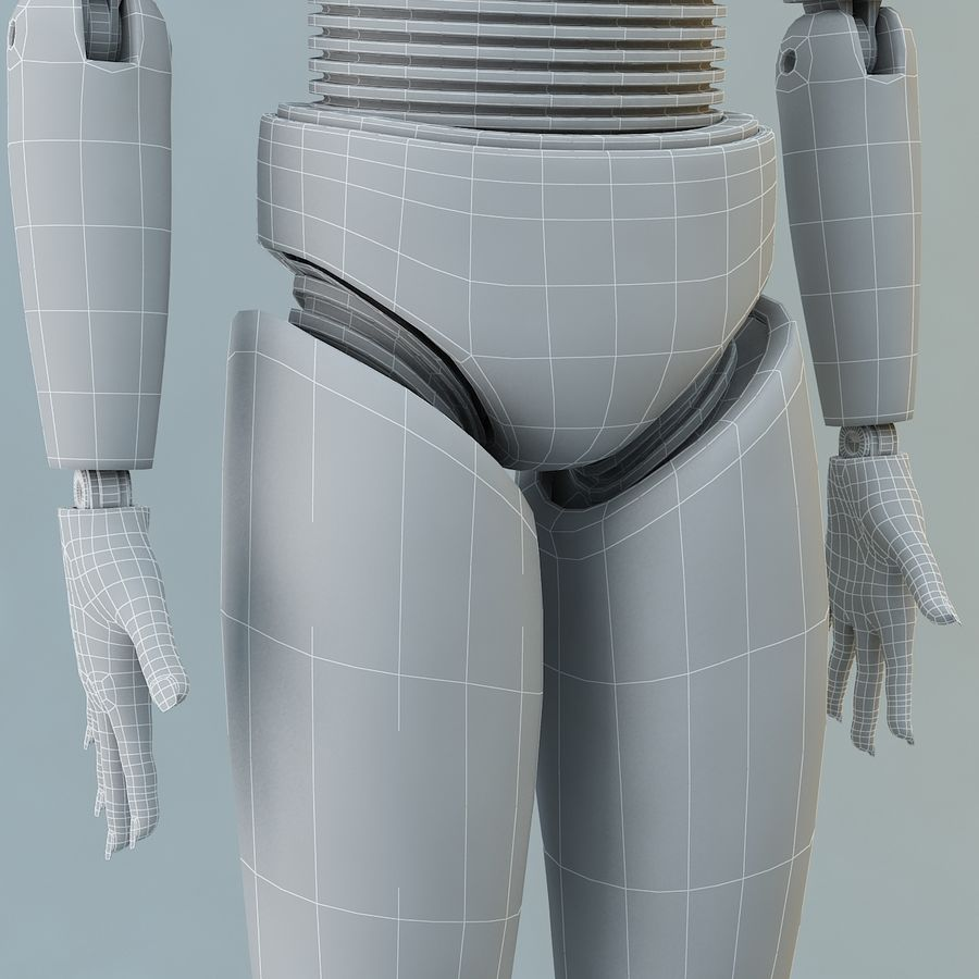 Crash Dummy Female royalty-free 3d model - Preview no. 15