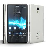 Sony Xperia T and LTE T White/Silver 3d model
