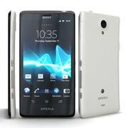 Sony Xperia T i LTE T Biały / Srebrny 3d model