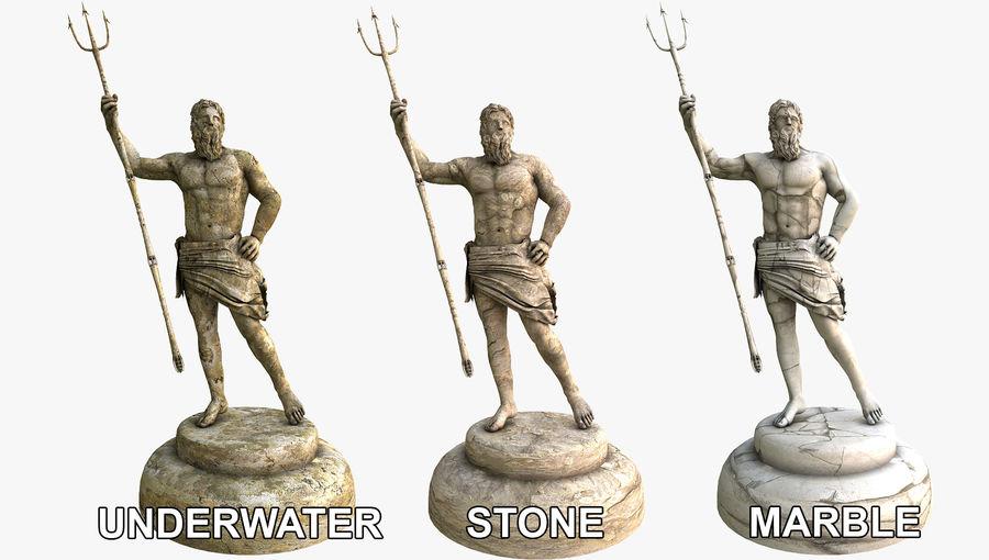 Estátua de Poseidon V2 royalty-free 3d model - Preview no. 7