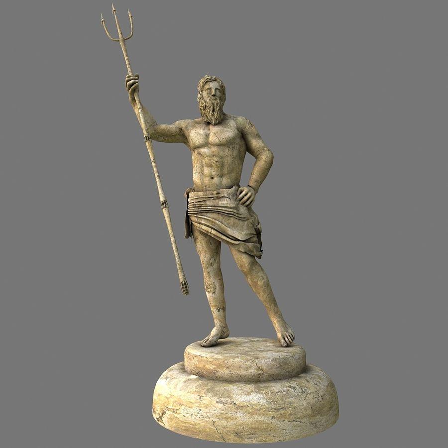 Estátua de Poseidon V2 royalty-free 3d model - Preview no. 2