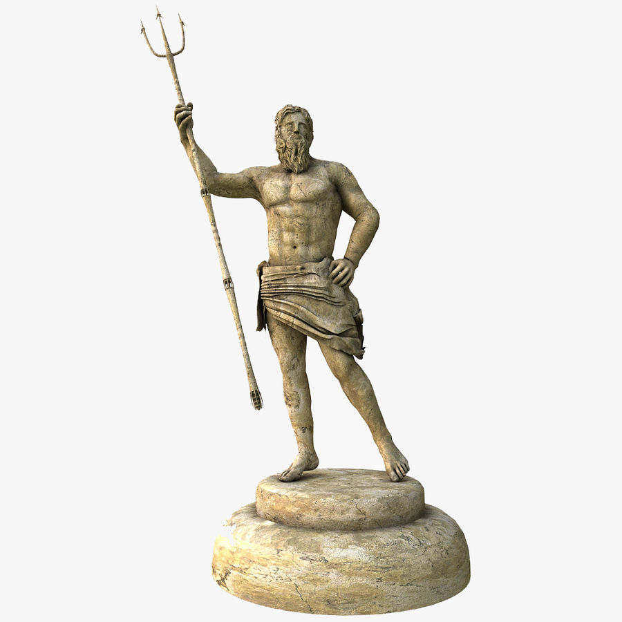 Estátua de Poseidon V2 royalty-free 3d model - Preview no. 1