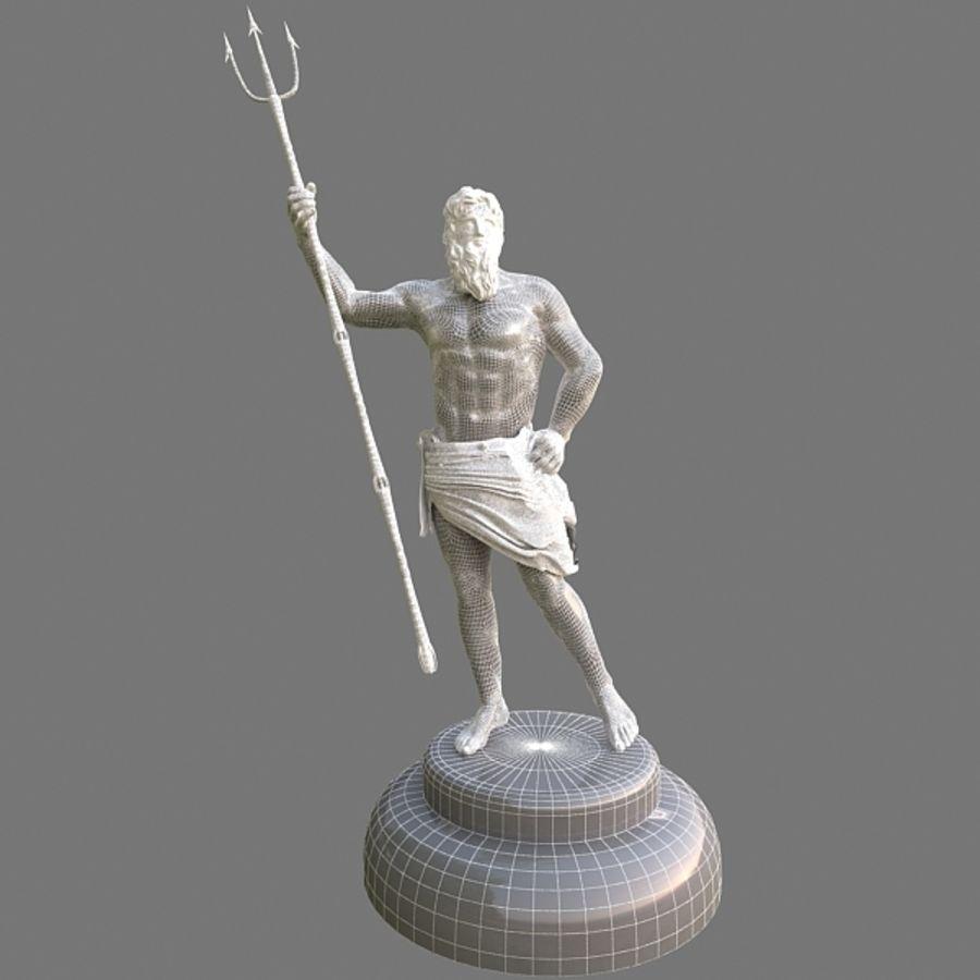Estátua de Poseidon V2 royalty-free 3d model - Preview no. 8