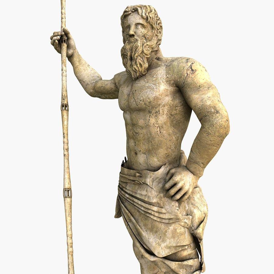 Estátua de Poseidon V2 royalty-free 3d model - Preview no. 4