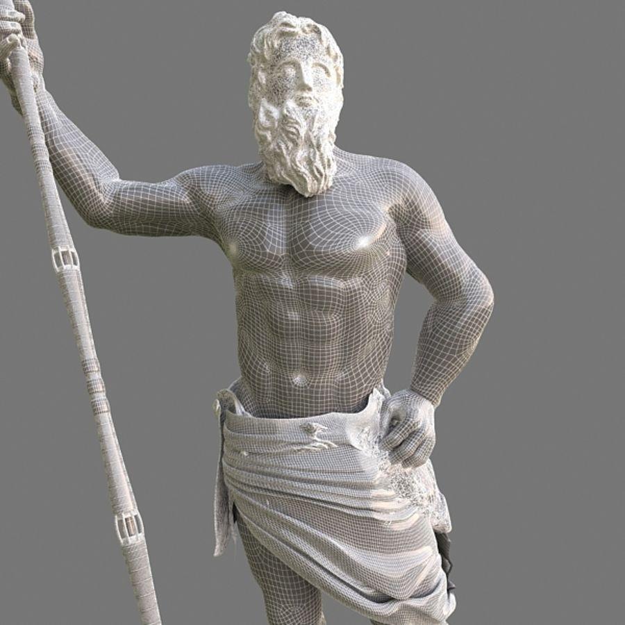 Estátua de Poseidon V2 royalty-free 3d model - Preview no. 9