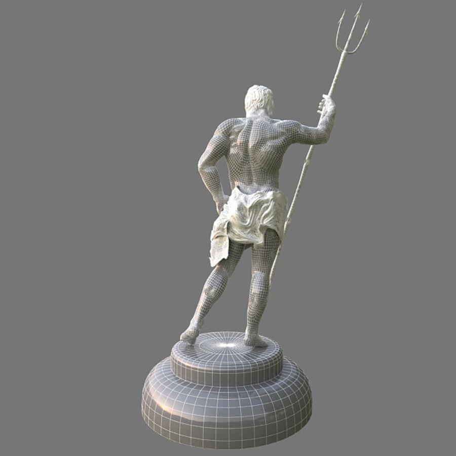 Estátua de Poseidon V2 royalty-free 3d model - Preview no. 10