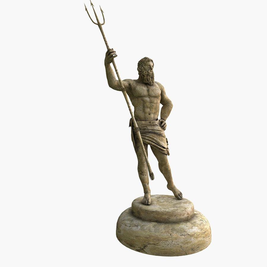 Estátua de Poseidon V2 royalty-free 3d model - Preview no. 3