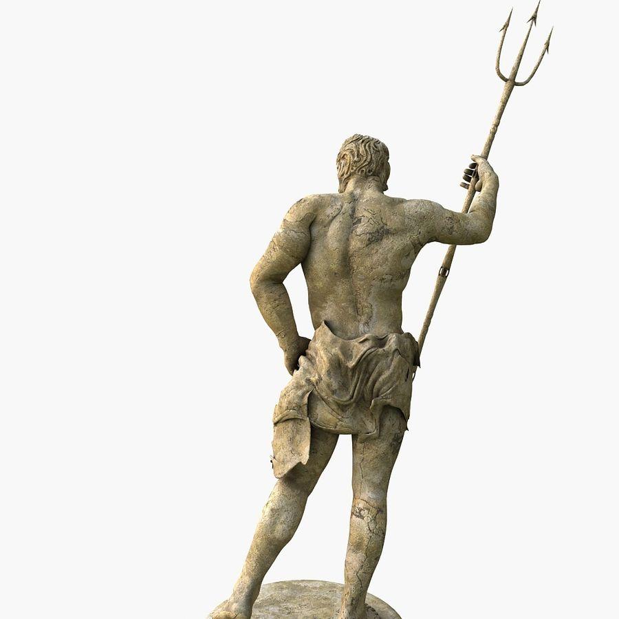 Estátua de Poseidon V2 royalty-free 3d model - Preview no. 5