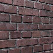 Кирпичная стена № 05 3d model