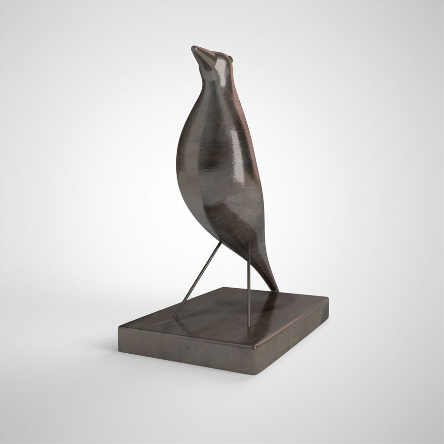 Bird Antiques royalty-free 3d model - Preview no. 4