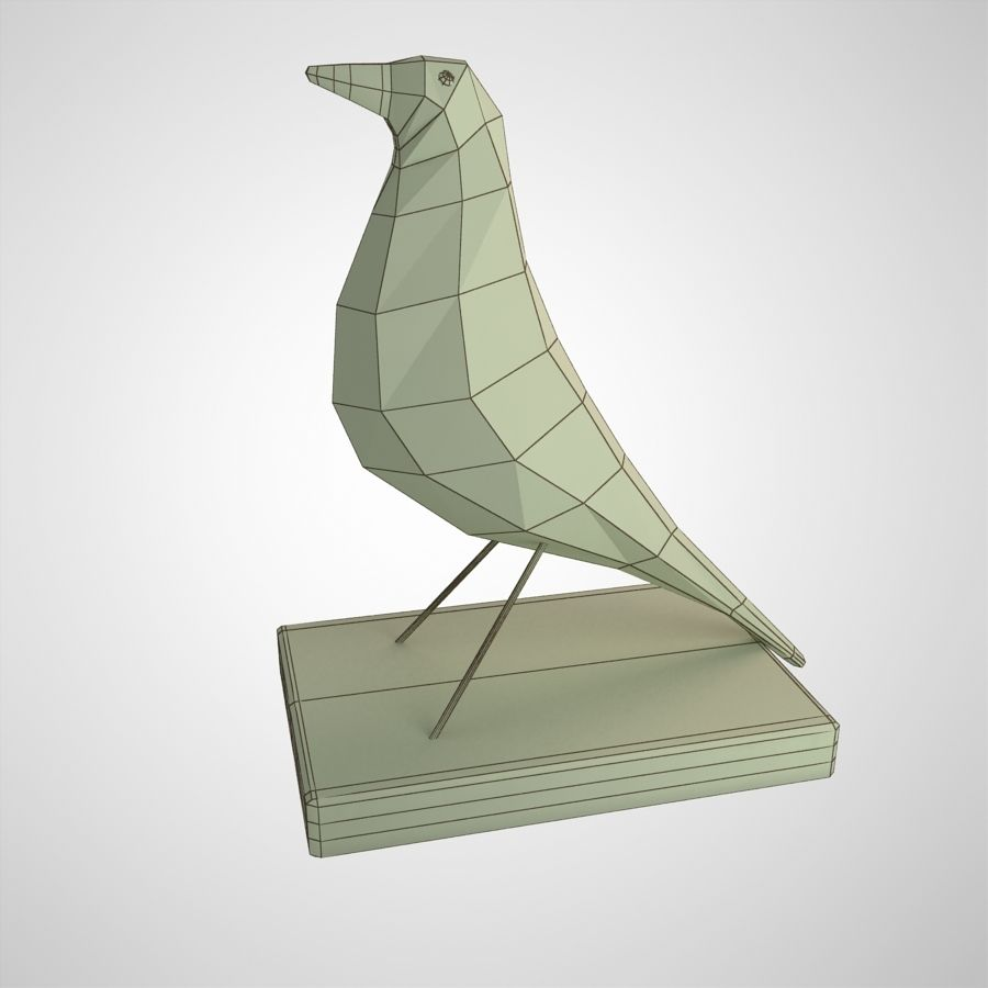 Bird Antiques royalty-free 3d model - Preview no. 11