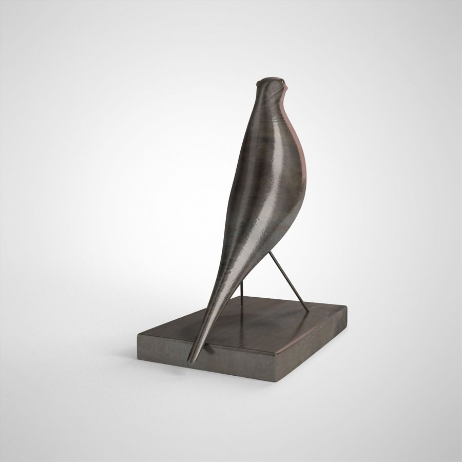 Bird Antiques royalty-free 3d model - Preview no. 8