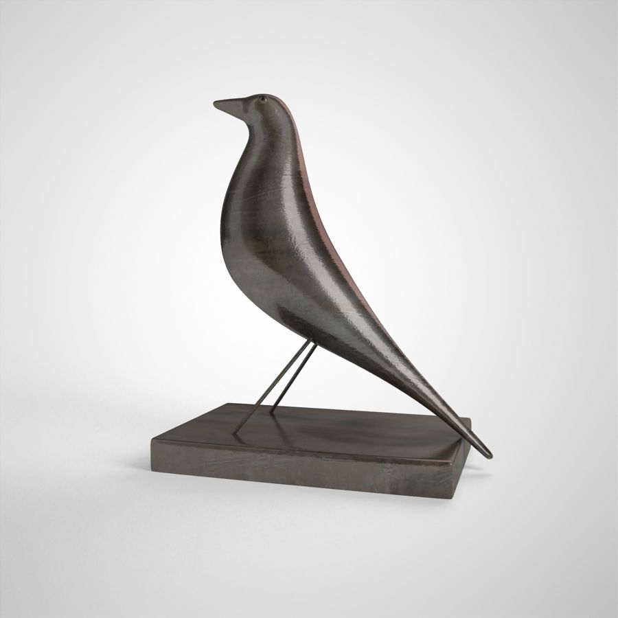 Bird Antiques royalty-free 3d model - Preview no. 10