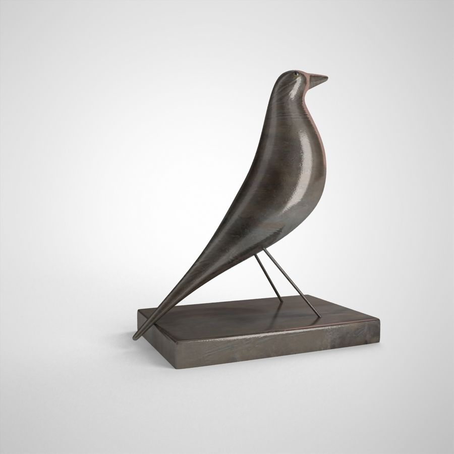 Bird Antiques royalty-free 3d model - Preview no. 7