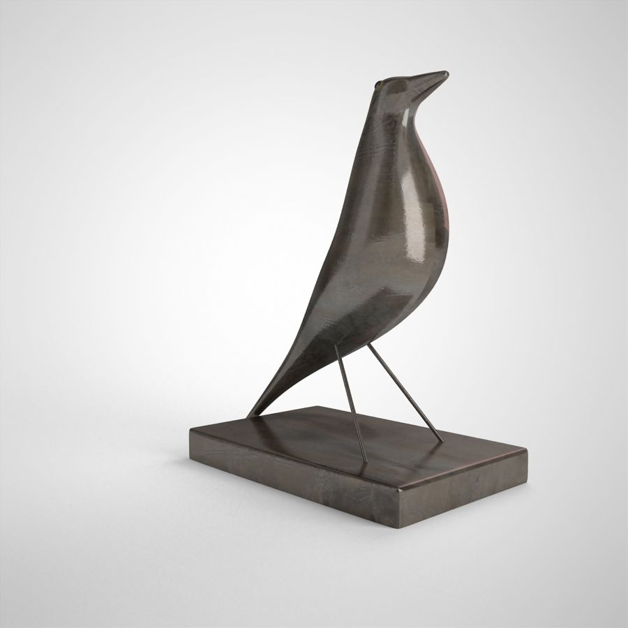 Bird Antiques royalty-free 3d model - Preview no. 5