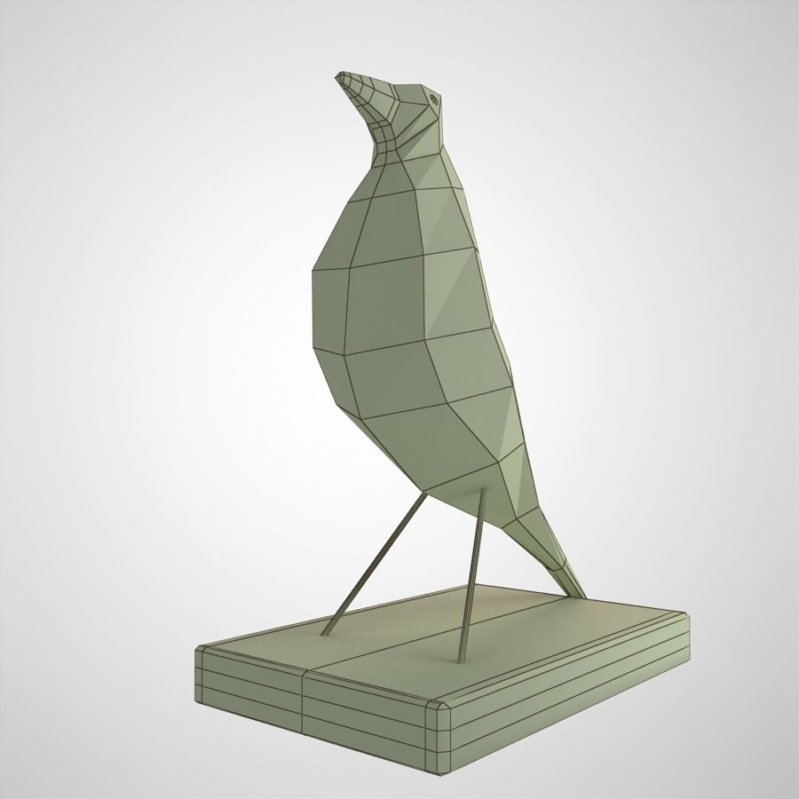 Bird Antiques royalty-free 3d model - Preview no. 12