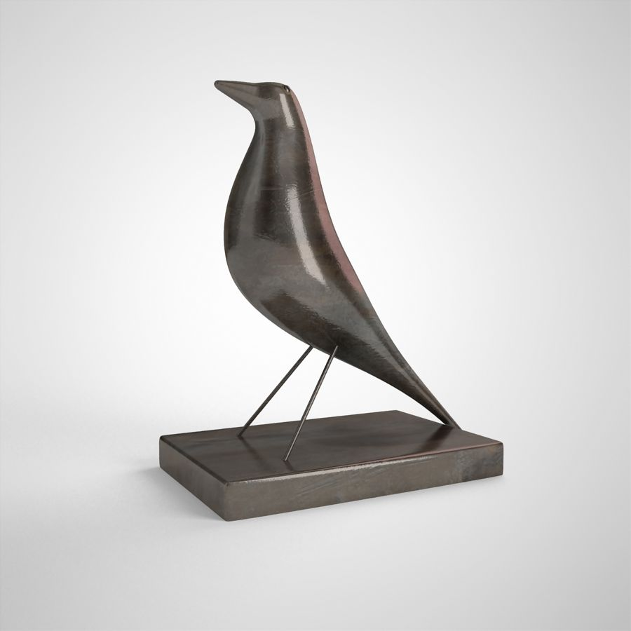 Bird Antiques royalty-free 3d model - Preview no. 3