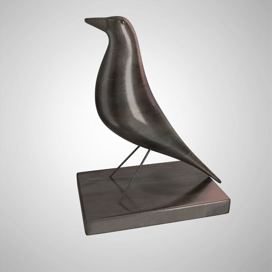 Bird Antiques royalty-free 3d model - Preview no. 2