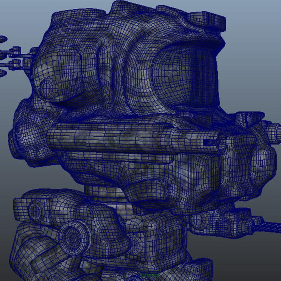 Maya Rigged Mech Robot royalty-free 3d model - Preview no. 6