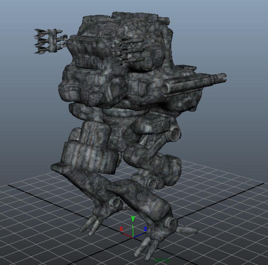 Maya Rigged Mech Robot royalty-free 3d model - Preview no. 11