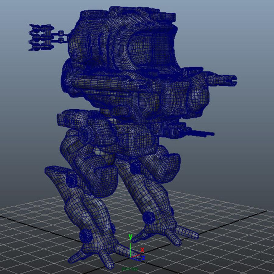 Maya Rigged Mech Robot royalty-free 3d model - Preview no. 3