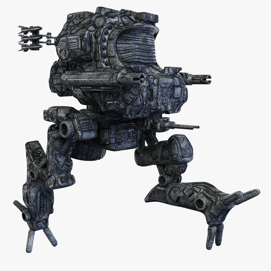 Maya Rigged Mech Robot royalty-free 3d model - Preview no. 1