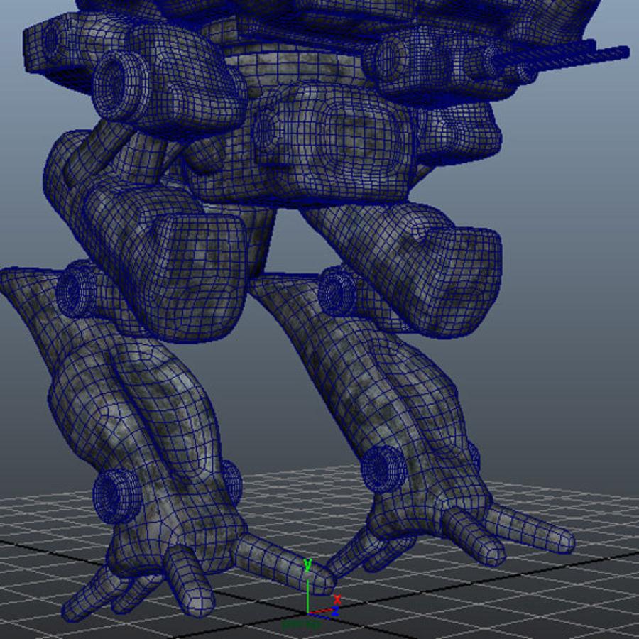 Maya Rigged Mech Robot royalty-free 3d model - Preview no. 5