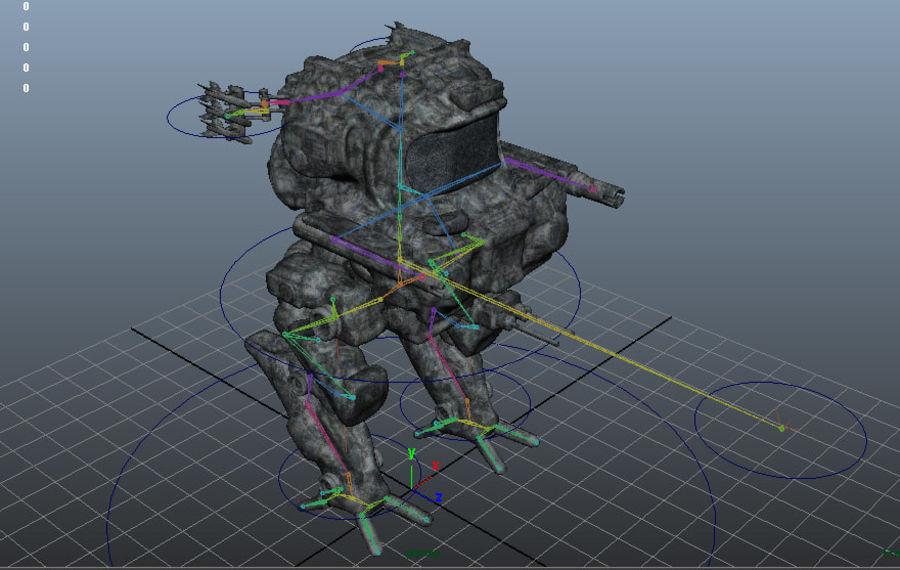 Maya Rigged Mech Robot royalty-free 3d model - Preview no. 12