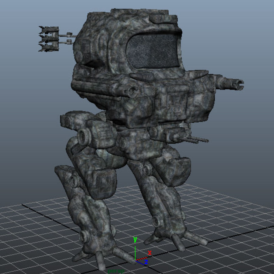 Maya Rigged Mech Robot royalty-free 3d model - Preview no. 10