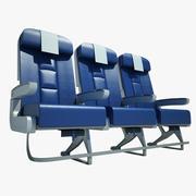 좌석 비행기 이코노미 01 3d model