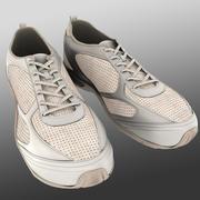 Sapatas do esporte brancas 3d model