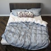 Фотореалистичная кровать 2 3d model