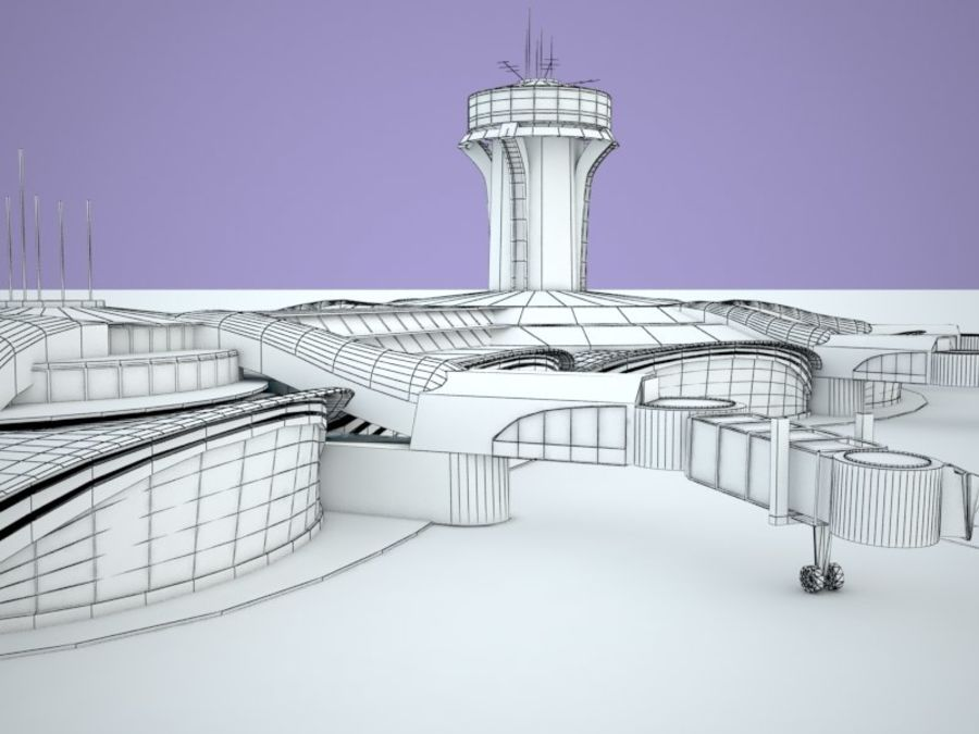luchthaven royalty-free 3d model - Preview no. 10