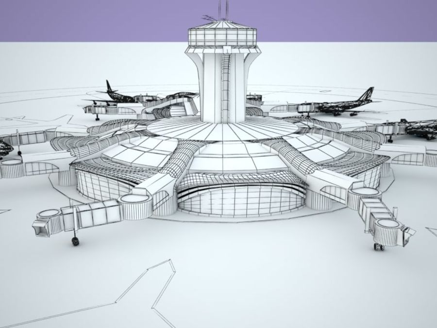 luchthaven royalty-free 3d model - Preview no. 11