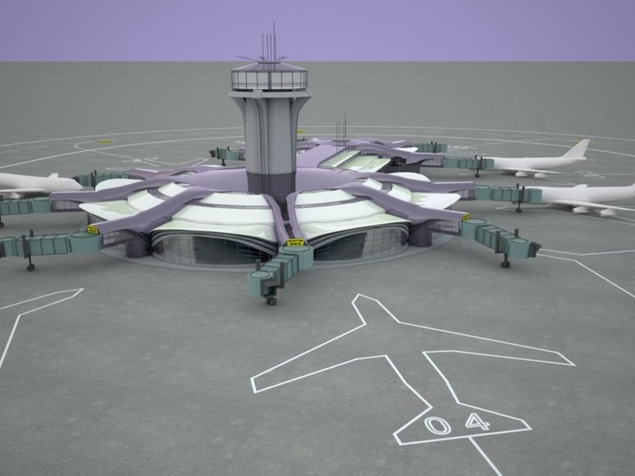 luchthaven royalty-free 3d model - Preview no. 1